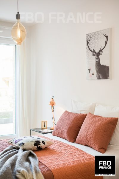home staging chambre fbo france Angers appartement témoin