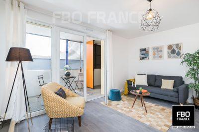 home staging séjour fbo france Ile de France appartement témoin